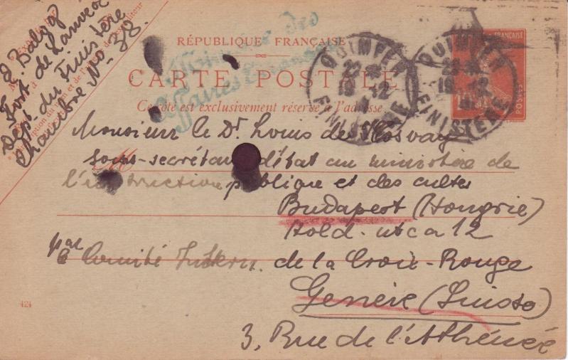 Entier Semeuse guerre 14-18 Bretagne Sujet à lire! Carte_10