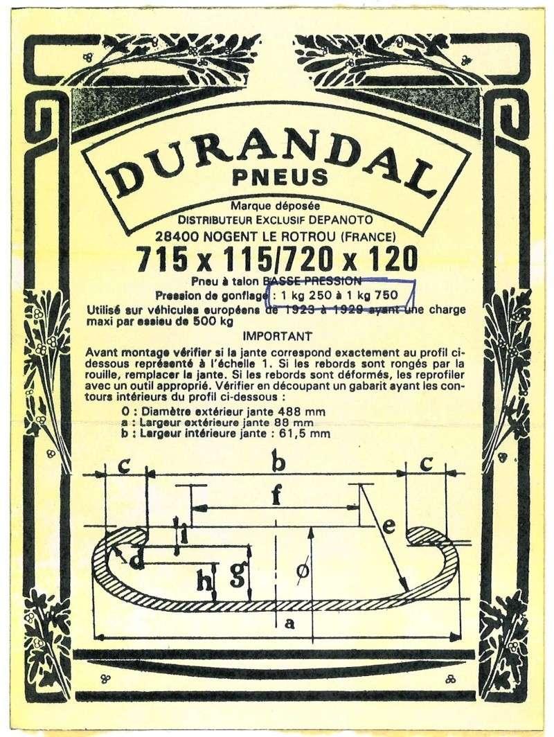 Pression des pneus Durand11