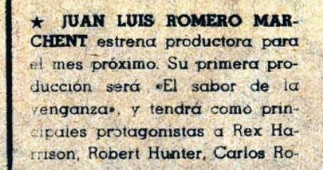 Les 3 implacables ( El sabor de la venganza ) –1963- Joaquim ROMERO MARCHENT 11510