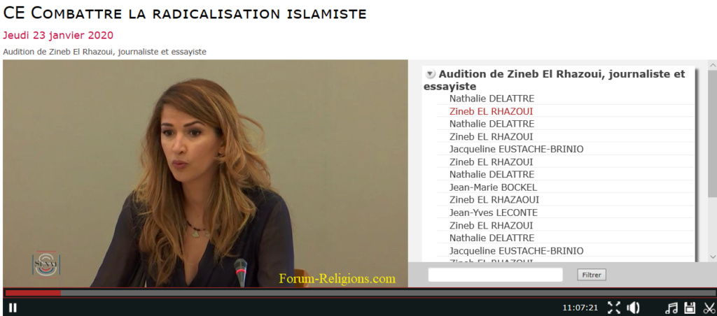 EL RHAZOUI Zineb au Sénat Français Zineb10