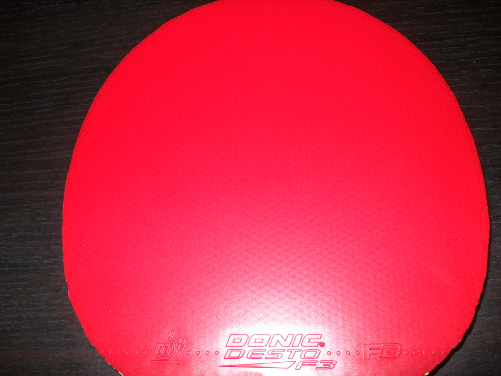 Donic desto F3 rouge 2mm neuf Sdc12715