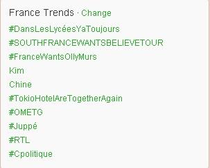 "[INFO] Tokio Hotel en ""trending topic"" sur Twitter !  - Page 3 France10"