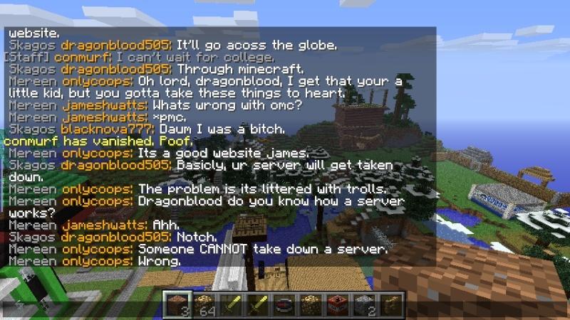 Dragonblood threatened the server.  Drag210