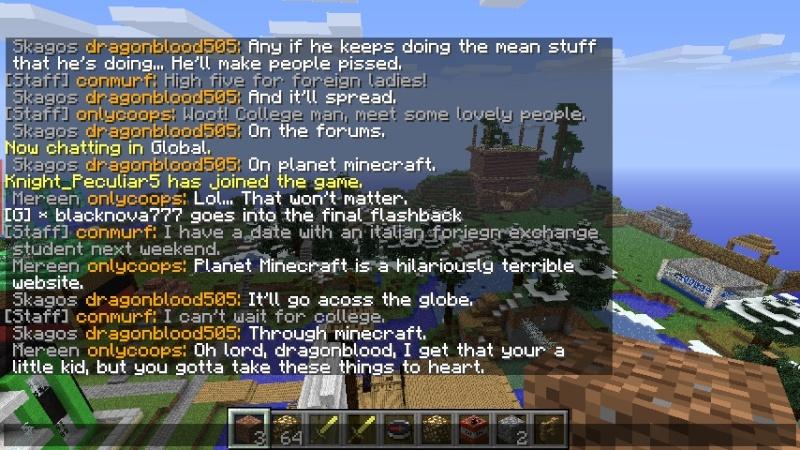 Dragonblood threatened the server.  Drag310