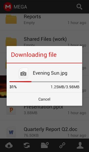 Gestisci i tuoi file fino a 50GB sul tuo smartphone - Mega App 1zxy6310