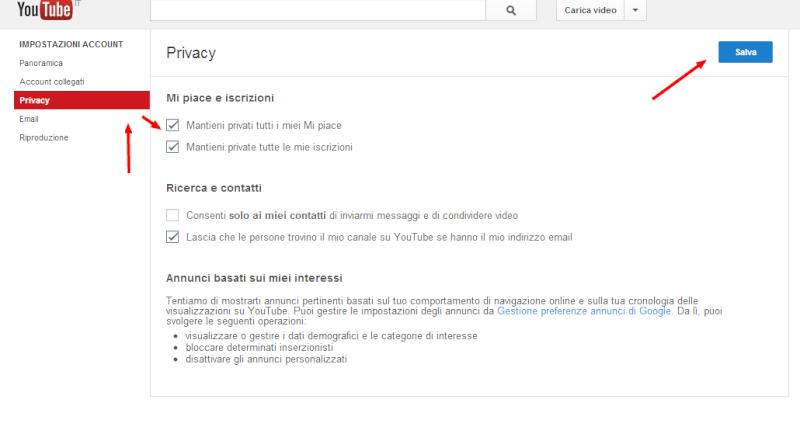 """Come rendere anonimi i """"mi piace"""" su Youtube 2vi2ha10"""