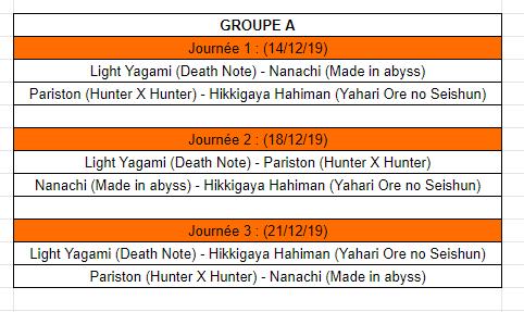 [MF Tournament] Groupes et calendrier Cala11