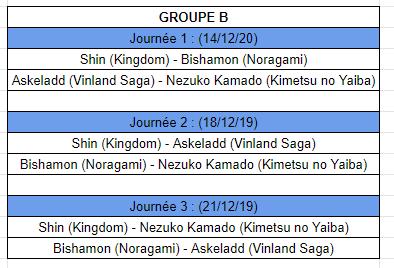 [MF Tournament] Groupes et calendrier Calb11