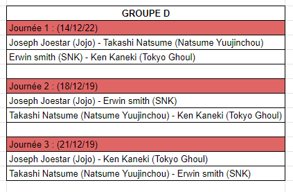 [MF Tournament] Groupes et calendrier Cald10