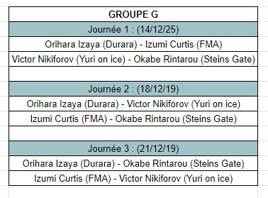 [MF Tournament] Groupes et calendrier Calg10