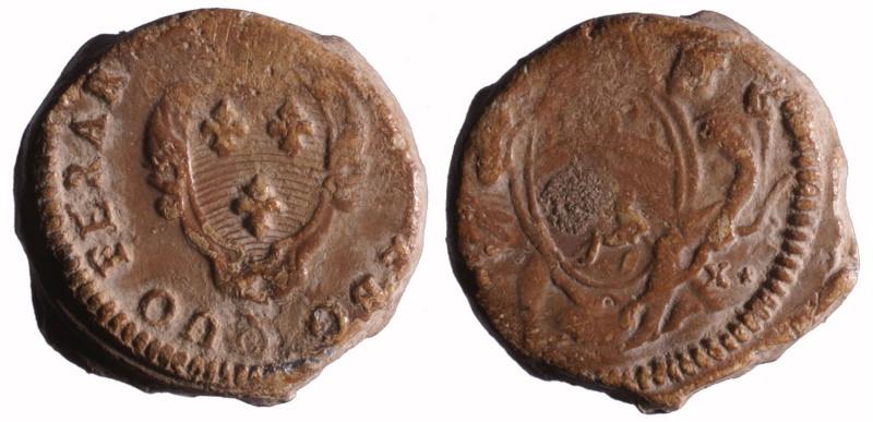 Compagnie des Indes, plomb circulaire à tunnel 1749-1769 D173910