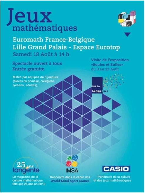 [Jeux mathématiques] France-Belgique le 18 août à Lille  Euroma11