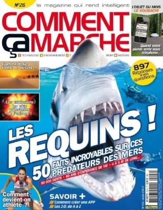 zoologie Comment ça marche n°26 Aout 2012 Les requins 50 faits incroyables sur ces prédateurs des mers forum publications magazine kiosque