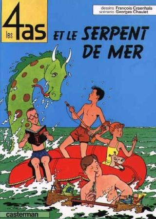 Cryptozoologie - bande dessinée - Georges Chaulet - François Craenhals - les 4 as et le serpent de mer - cryptide marin - grand-serpent-de-mer - Caterman - 1964 - forum