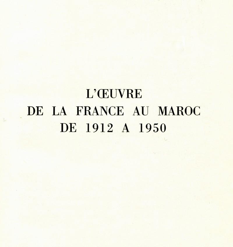 L'Oeuvre de la France au Maroc de 1912 à 1950. Maroc206