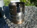 Fabrication d'un réchaud multicombustible et d'une housse isotherme pour gourde Nalgene P1060811