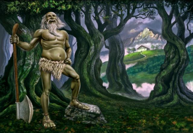 Mythologie Basque: LE BASAJAUN Basaja11