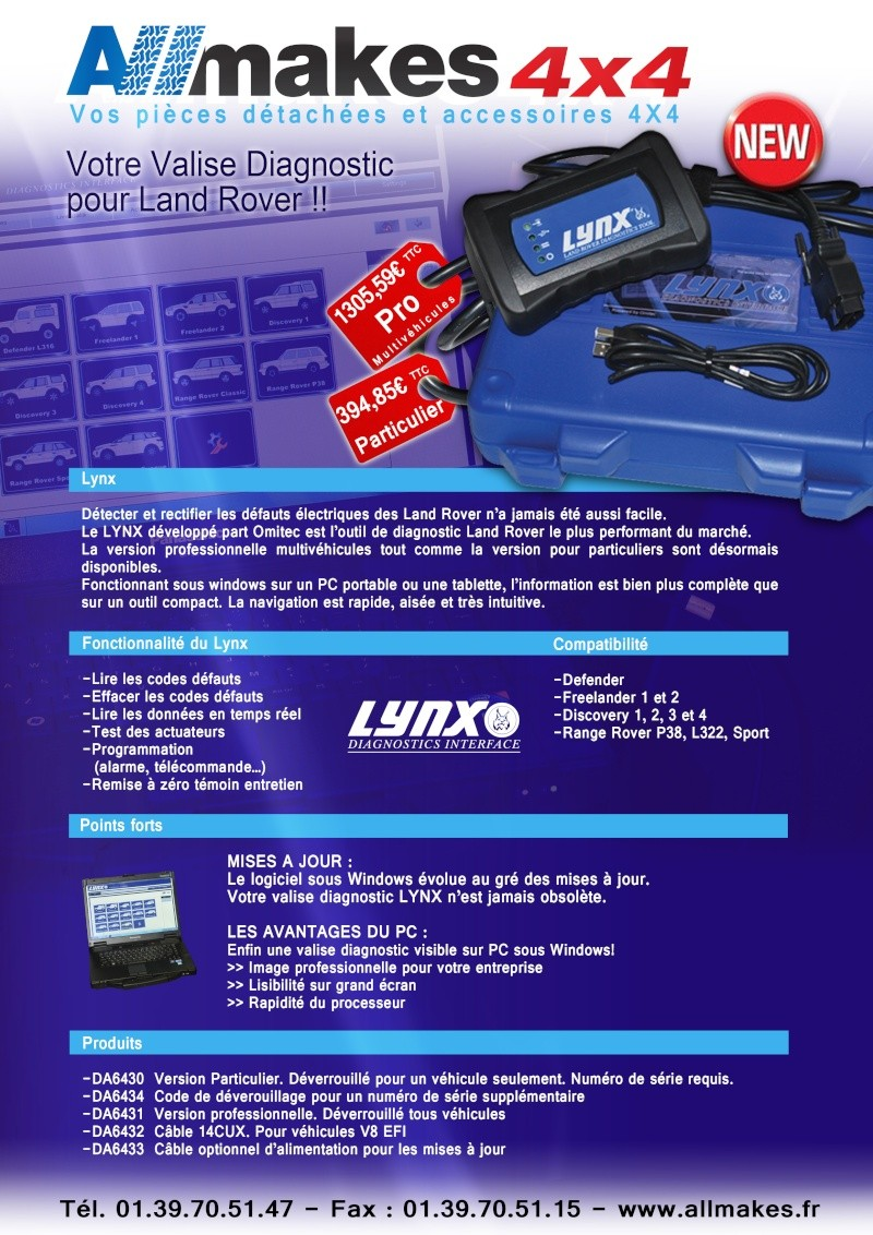 appareil de diagnostic Lynx11