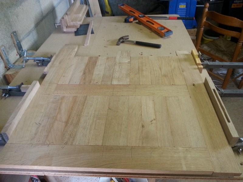 Table basse  de salon carrée  en chène  19_80010