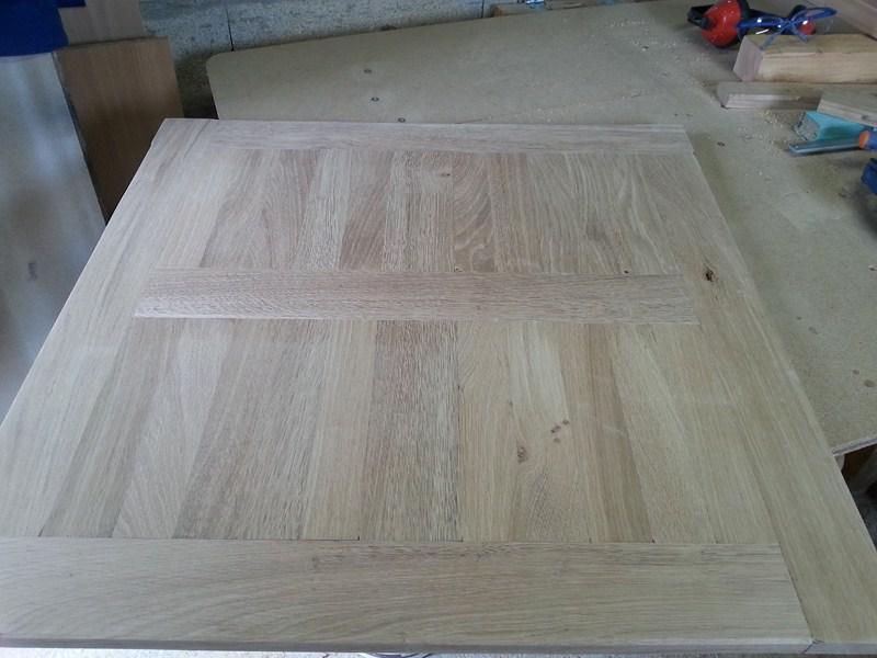Table basse  de salon carrée  en chène  19bis_10