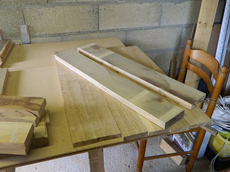 Table basse  de salon carrée  en chène  3800x610