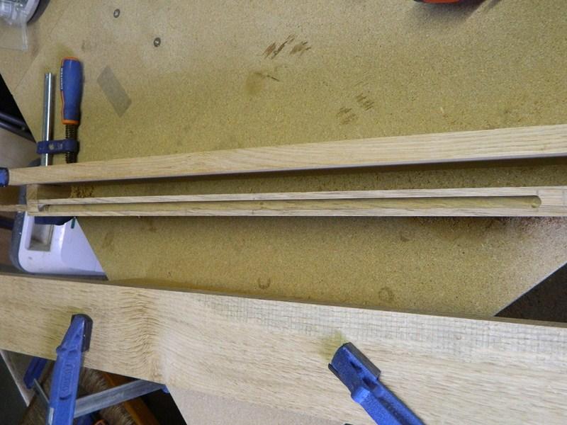 Table basse  de salon carrée  en chène  4bis8010