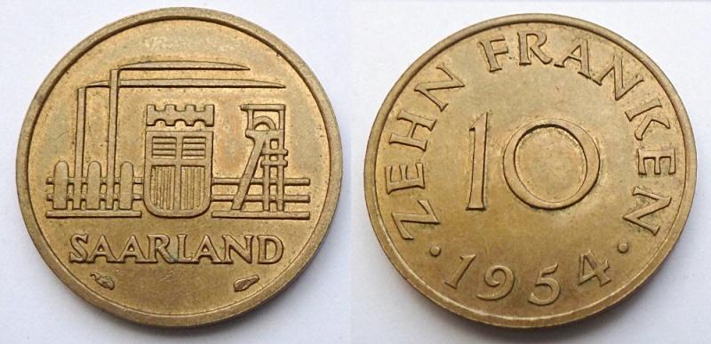 10 Franken 1954 - Connaissez-vous cette monnaie ? Sarre_10