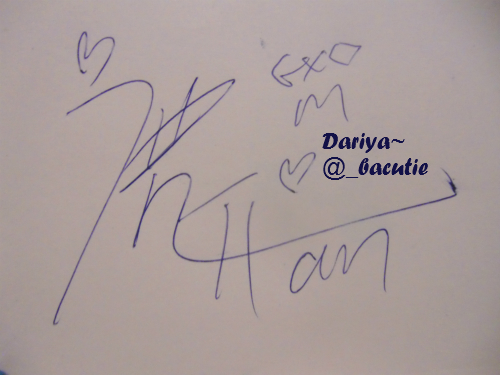 [120827/FANACCOUNT] Fan got Luhan's signature at cafe in Apgujeong + photo of signature 00f97c10