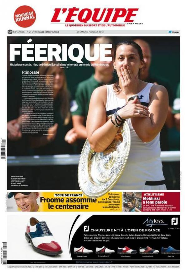 MARION BARTOLI (Française) - Page 7 Une07010