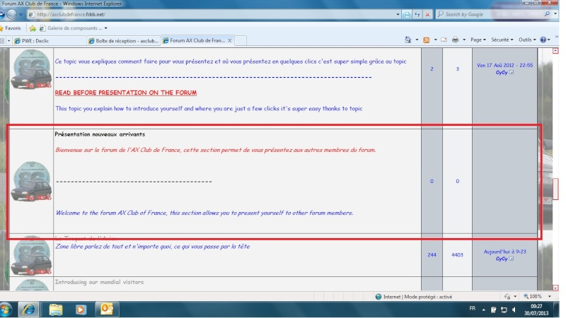 How come on the forum ?? [ENGLISH] Prasen10