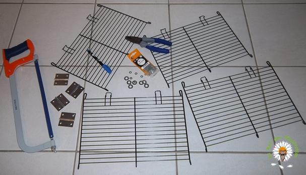 Bricolage d'une grande cage : associer Jenny+ Chichi2, ajout de portes Bricol12