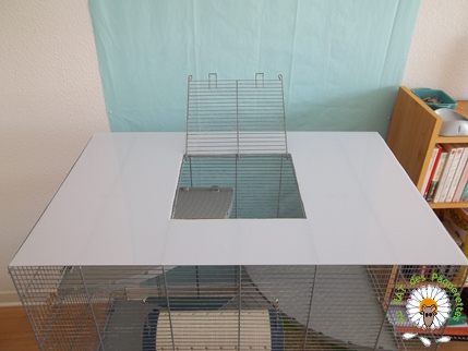 Bricolage d'une grande cage : associer Jenny+ Chichi2, ajout de portes Bricol21
