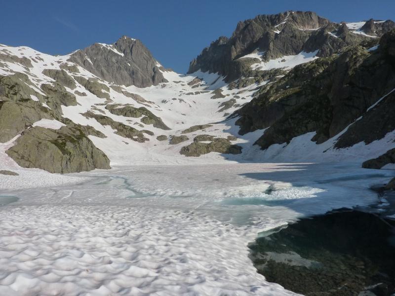 Enneigement autour du Lac Blanc le 8 Juillet 2013. Lb210