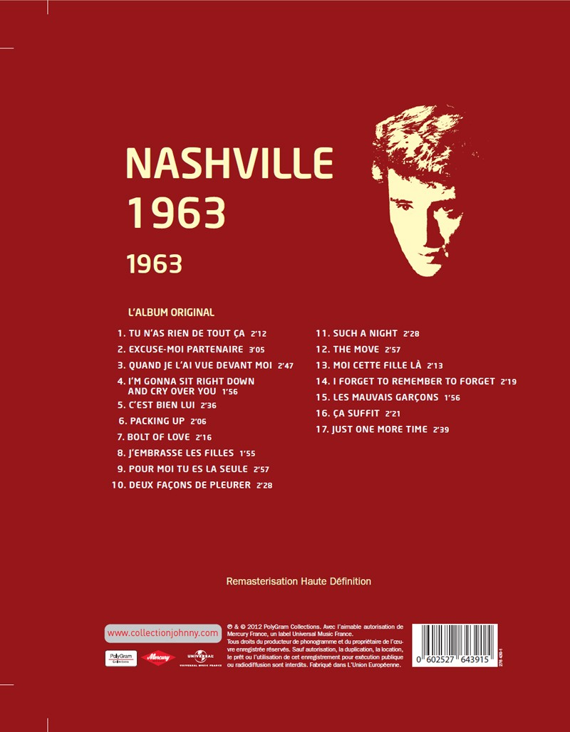 N° 44 1963 Nashville 1963 Jhcoll38