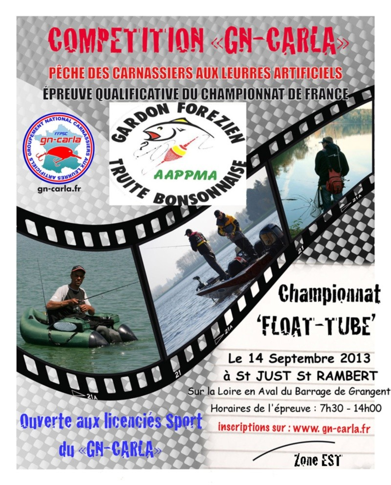 Concours float tube Saint Just Sait Rambert Affich10