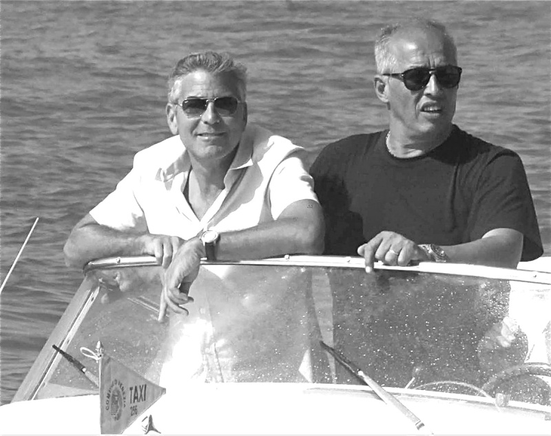 George Clooney and Stacy Keibler in Venice.....always on the boat.... - Page 2 George12
