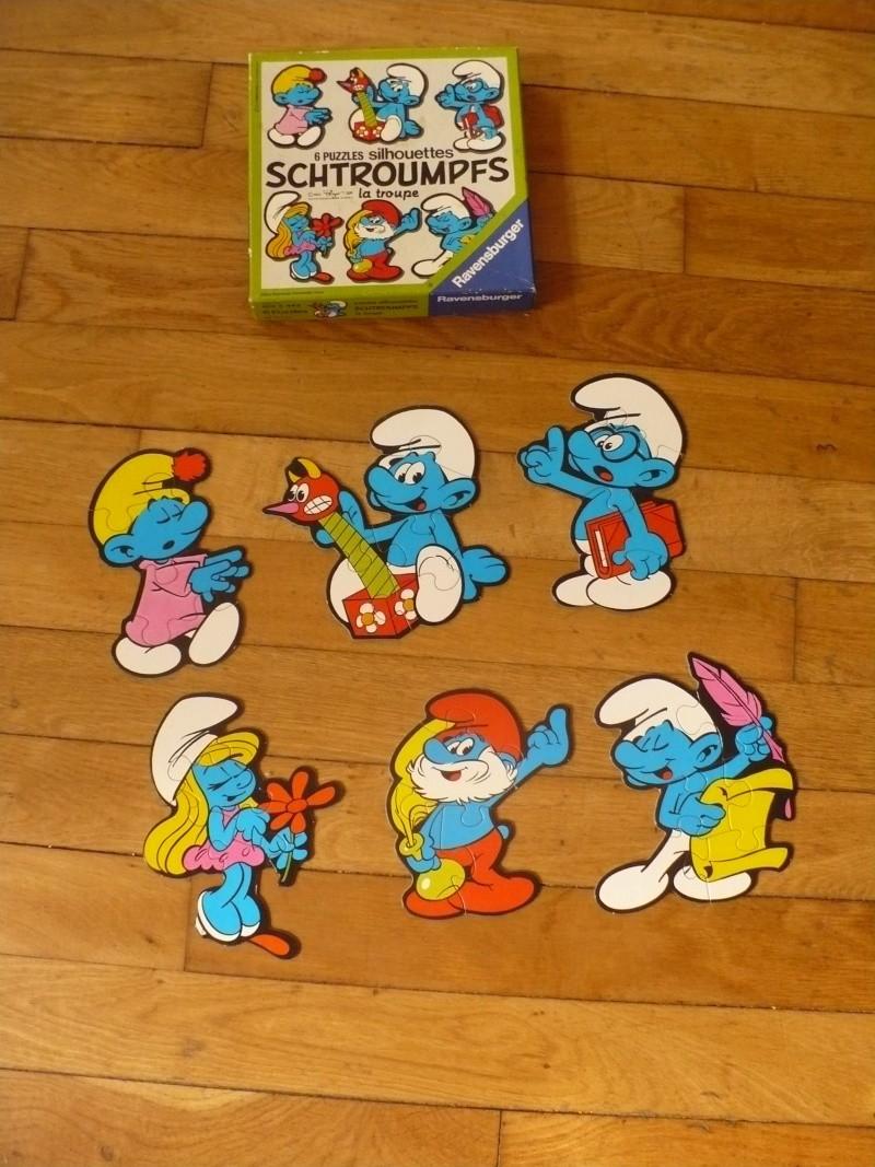 puzzles silhouettes schtroumpfs 00614