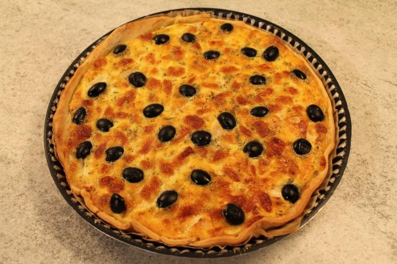 quiche au poulet, olives noires, mozzarella 16710