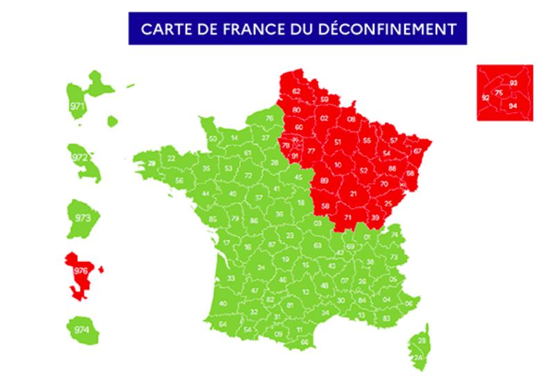 Maladies Coronavirus : Carte de l'évolution de l'épidémie en France Captur17