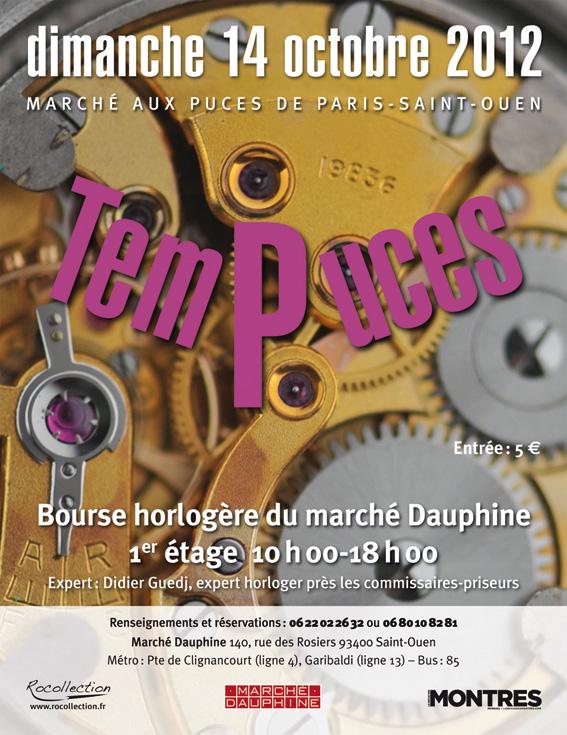 1re bourse horlogère aux Puces de Paris-Saint-Ouen ! Tempuc12