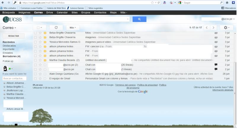 ¿Ya tienes tu correo ucss.pe(Google +)? (Si tienes problemas entra) Correo10