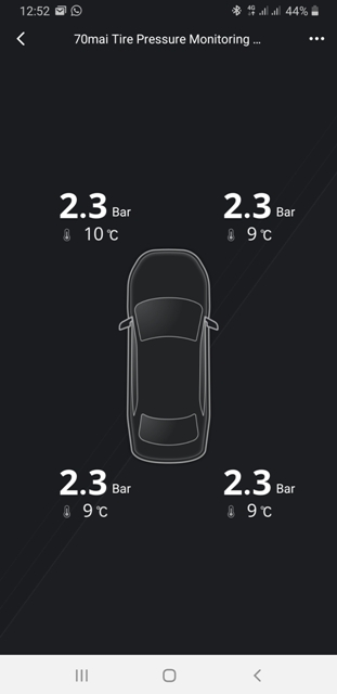 Sensore pressione pneumatici 70Mai App_tp10