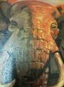 Elephant Oil Painting by Nita 423