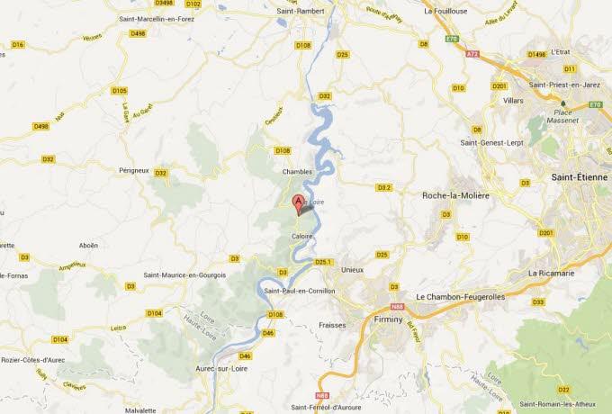 Loire. Caloire : un motard fait une chute mortelle dans un ravin Google10