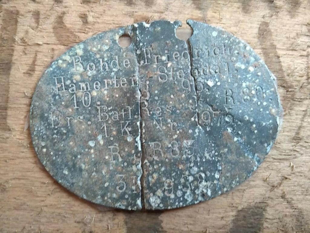 plaque d'identification allemande WW1 Plaque10