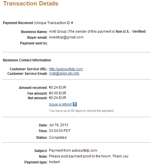 My payment-autosurfptp 115