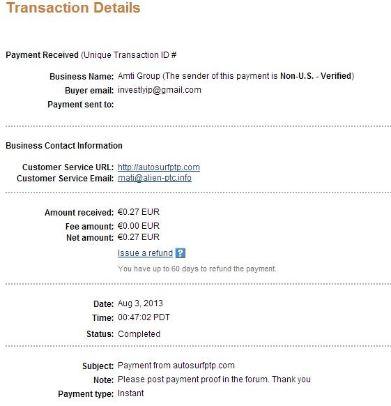 My payment-autosurfptp 119