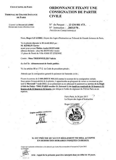 BUZZ La plainte de Xavier Kemlin contre Trierweiler est conforme au Code Pénal Plaint10