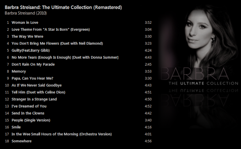 Barbra Streisand - The Ultimate Collection (Remastered) [iTunes Plus AAC M4A] - Album  Captur42