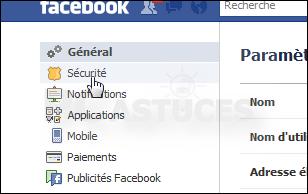 Vérifier les connexions à son compte Facebook - Tous les navigateurs Web  3352-310